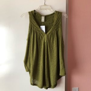 FREE PEOPLE - new to town knit tank (size xs)